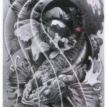 татуировка риба кои
