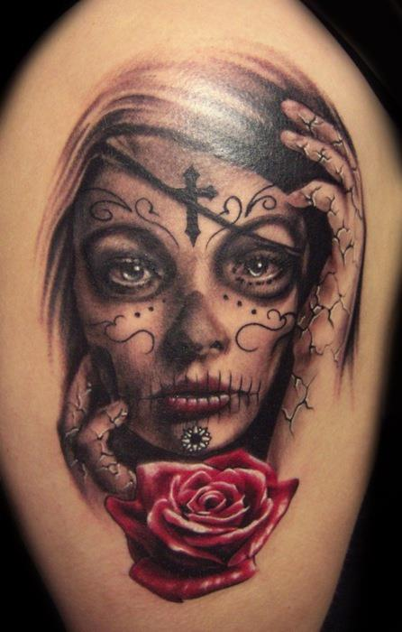 """Татуировка """"La Santa Muerte"""""""