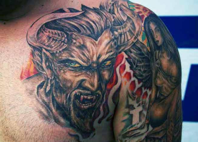 Татуировка демон