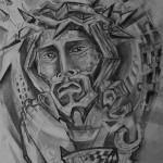 Модел за татуировка в стил Кубизъм.